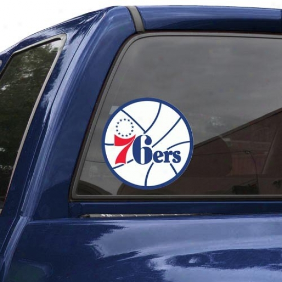 """philadelphia 76ers 8"""" X 8"""" Color Team Logo Car Decal"""