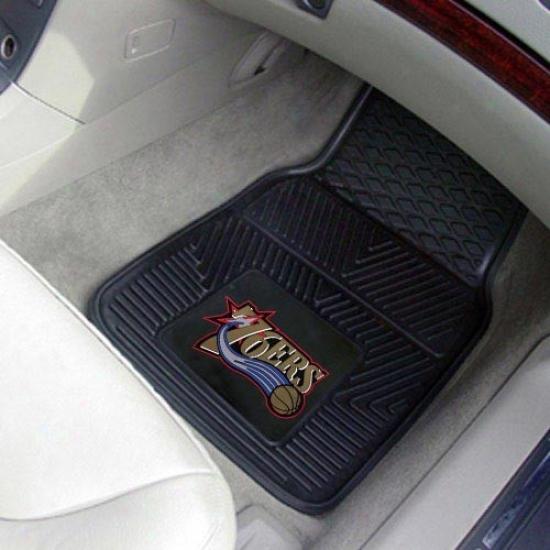 Philadelphia 76ers Black 2-piece Vinyl Car Interweave Set