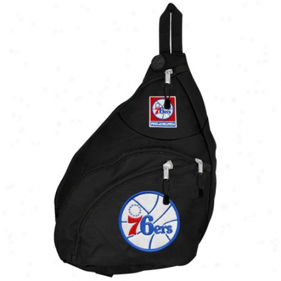 Philadelphia 76ers Black Slingshot Backpack