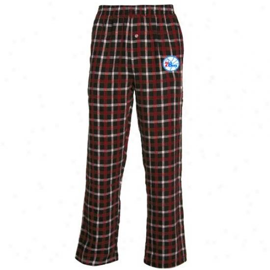 Philadelphia 76ers Black Tailgate Pajama Pants