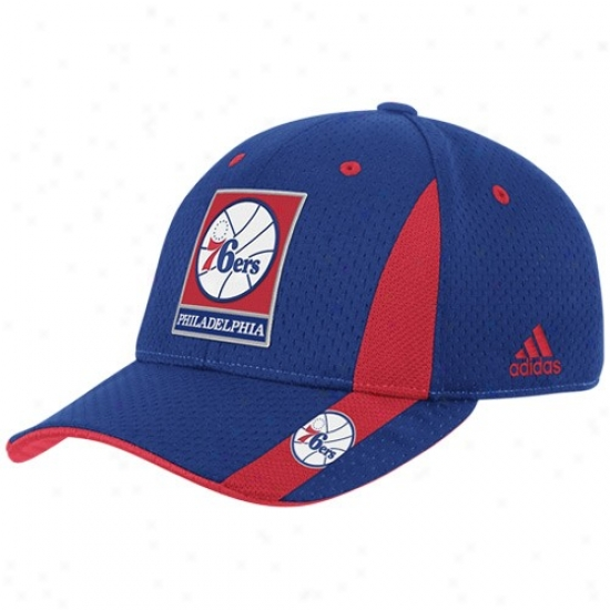 Philadelphia 76ers Gear: Adidas Philadelphia 76ers Youth Royal Blue Swingman Flex Fit Hat