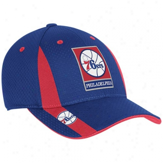 Philadelphia 76ers Gear: Adidas Philadelphia 76ers Royal Blue Swingman Flex Fit Hat