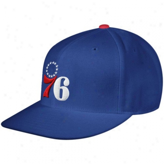 Philadelphia 76ers Appointments: Mitcehll & Ness Philadelphia 76ers Royal Blue Every other Team Logo Fitted Hat