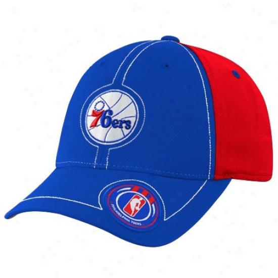 Philaddelphia 76ers Hat : Adidas Philadelphia 76ers Royal Blue Retro Logo Flex Fit Hat
