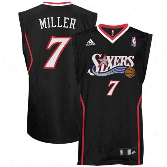 Philadelpiha 76ers Jerseys : Adidas Philadelphia 76ers #7 Andre Miller Dark Autograph copy Basm3tball Jerseys