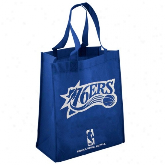 Philad3lphia 76ers Ships Blue Reusable Tote Bag