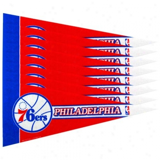 Philadelphia 76ers Red 8-pack Mini Pennant Set