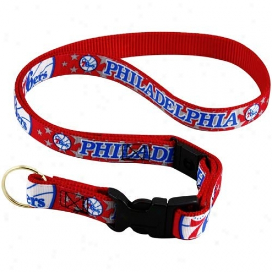 Philadelpgia 76ers Red Lanyard