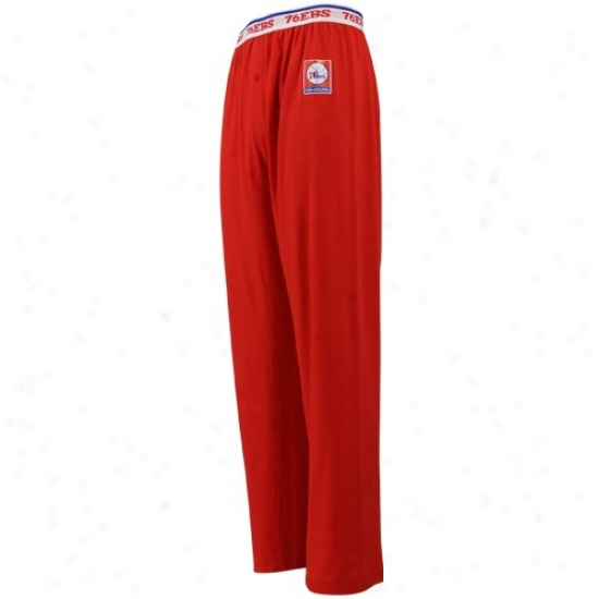Philadelphia 76ers Red Team oLgo Stamp Knit Pants