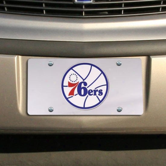 Philadelphia 76ers Soft and clear  Mirrored License Plate