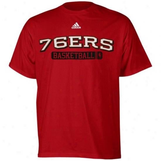 Philadelphia 76ers T-shirt : Adidas Philadelphia 76ers Red Kappa Sigma T-shirt