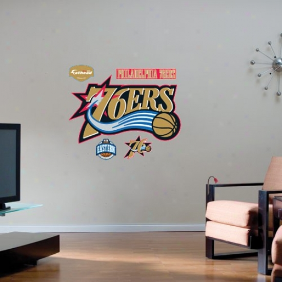 Philadelphia 76ers Team Logo Fathead Wall Sticker