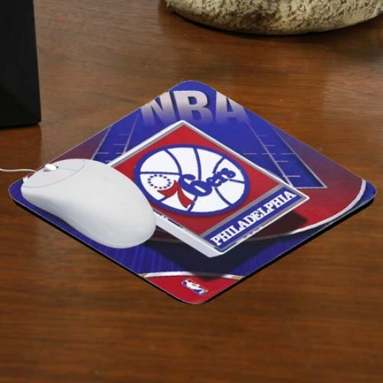 Philadelphia 76ers Team Logo Neoprene Mousepad