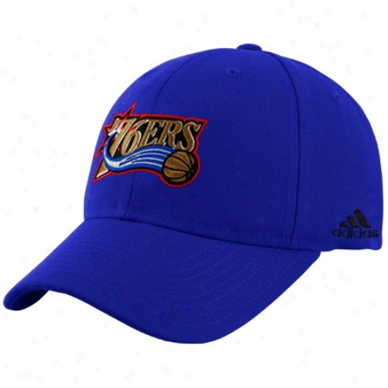 Philly 76er Hat : Adidas Philly 76err Royal Blue Basic Logo Wool Adjustable Cardinal's office
