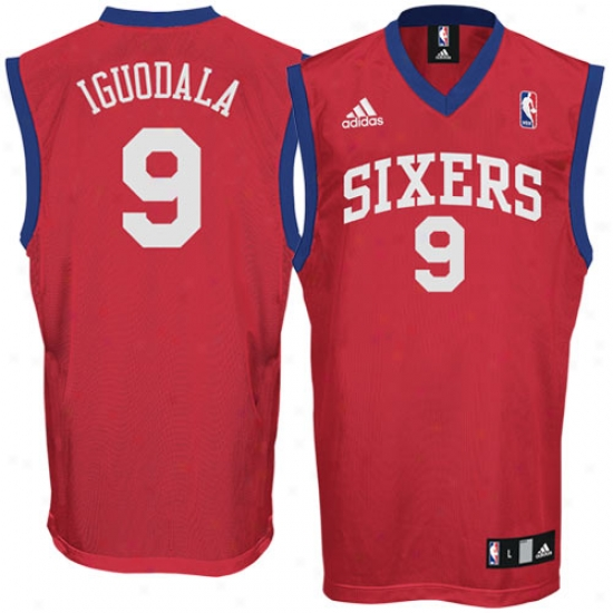 Philly 76er Jersey : Adidas Philly 76er #9 Andre Iguodala Red Replica Basketball Jersey