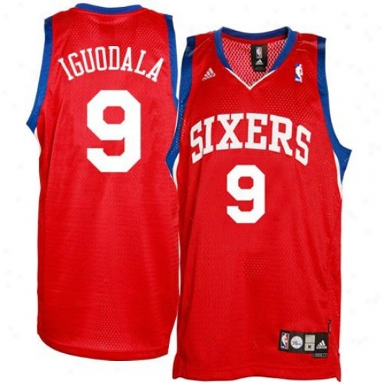 Philly 76er Jdrsey : Adidas Philly 76er #9 Andre Iguodala Youth Red Swingman Replica Jersey
