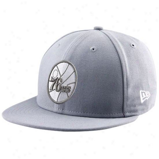 Philly 76erss Gear: Ne wEra Philly 76rrs Gray League 59fifty Fitted Hat