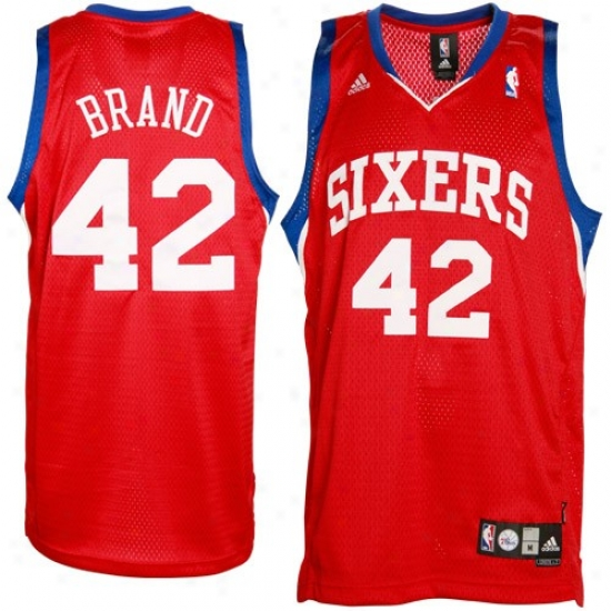 Philly 76ers Jersey : Adidas Philly 76ers #42 Elton Brand Red Swingman Basketball Jersey