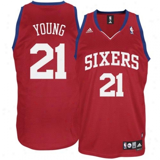 Philly 76ers Jerseys : Adidas Philly 76ers #21 Thaddeus Young Youth Red Swingman Basketball Jerseys
