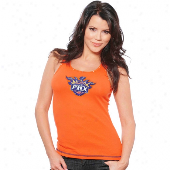 Phoenix Sun Apparel: Majestic Threads Phoenix Sun Orange Ladies Swarovski Crystal  Necklace Tank Top