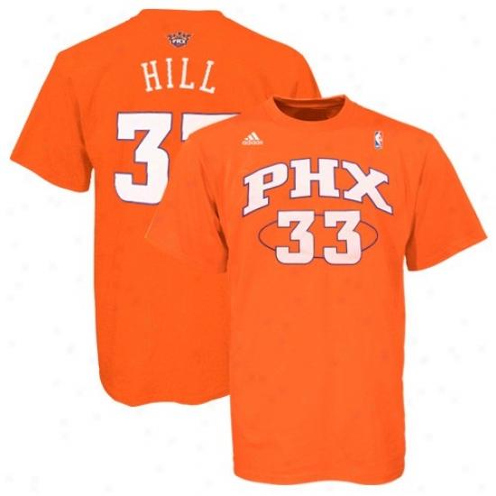 Phoenix Sun Attire: Adidas Phoenix Suun #33 Grant Hill Orange Net Player T-shirt