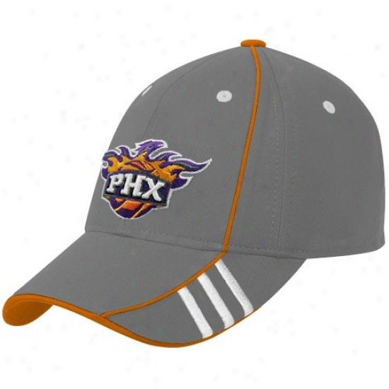 Phoenix Sun Hat : Adidas Phoenix Sun Gray Official Team Adjustable Hat
