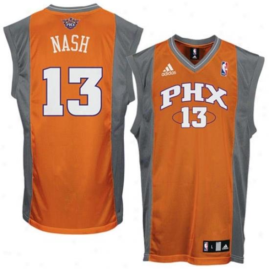 Phoenix Sun Jersey : Adidas Phoenix Sun #13 Steve Nash Orange Replica Bawketball Jersey