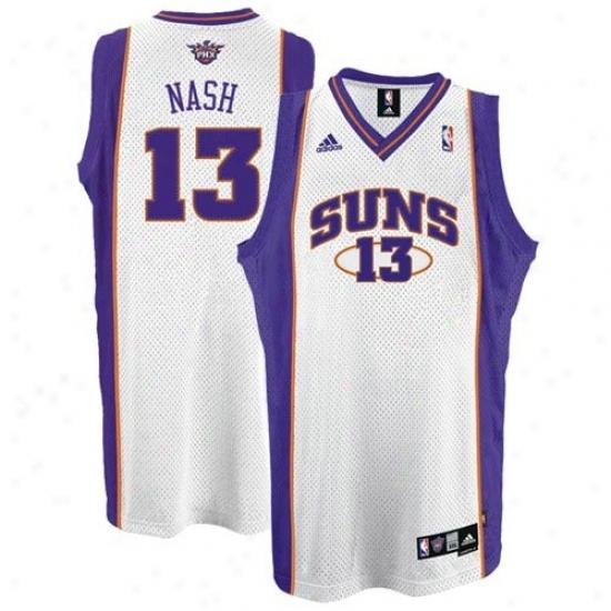Phoenix Sun Jersey : Adidas Phoenix Sun #13 Steve Nash White Home Swingman Basketball Jersey