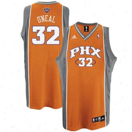 Phoenix Sun Jersey : Adidas Phoenix Sun #32 Shaquille O'neal Orange n2d Road Swingman Mesh Basketball Jersey