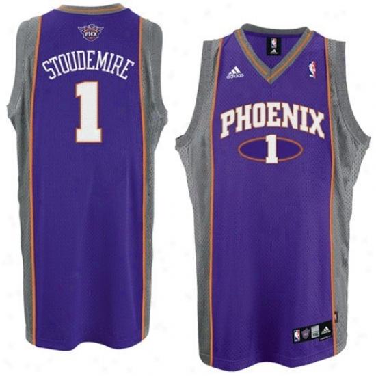 Phoenix Sun Jerseys : Adidas Phoenix Sun #1 Amare Stoudemire Youth Purple Swingman Baskebtall Jerseys