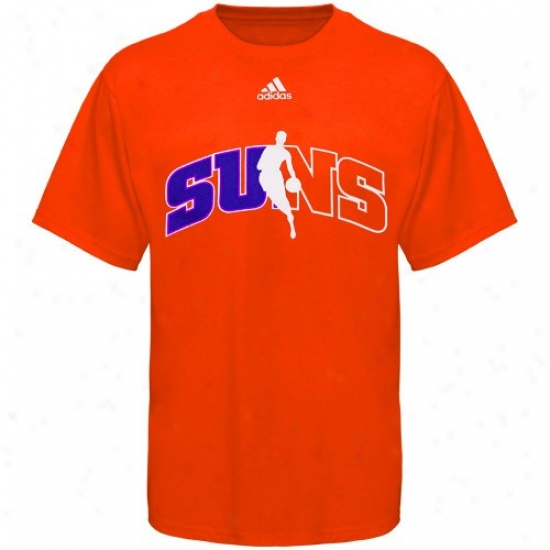 Phoenix Sun Shirt : Adidas Phoenix Sun Orange 2010 Draft Dribbler Shirt