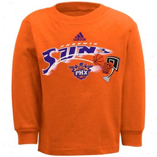 Phoenix Day-star Shirts : Adidas Phoenix Sun Toddleer Orange Primary Logo Long Sleeve Sirts