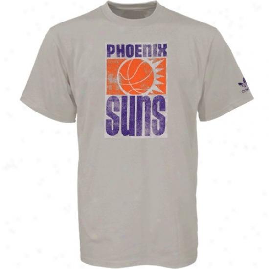 Phoenix Sun Tee : Sport Authentics By Adidas Phoenix Sun Gray Retro Logo Tee