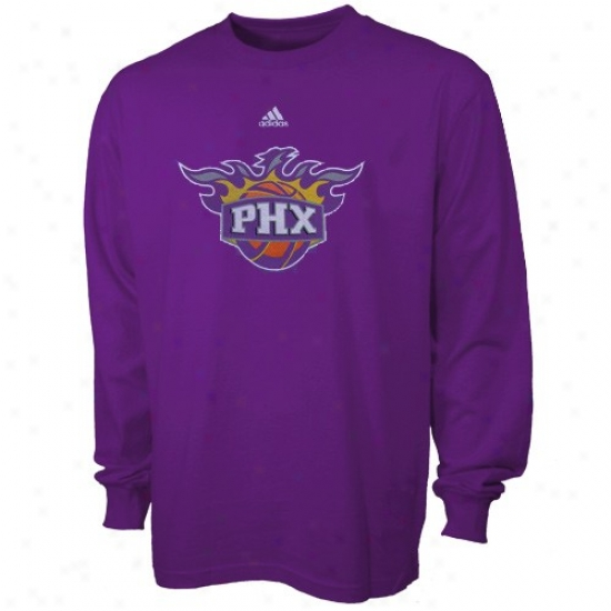 Phoenix Sun Tshirt : Adidas Phoenix Sun Purple Youth Primary Logo Long Slleeve Tshirt