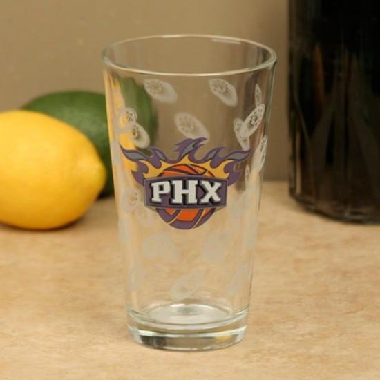Phoenix Suns 16oz. Satin Etch Pint Glass