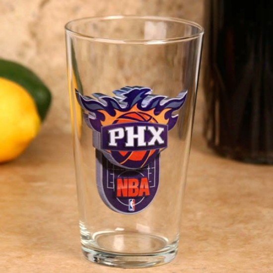 Phoenix Suns 17 Oz. Enhanced Hi-def Mixing Glass
