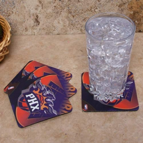 Phoenix Suns 4-pack Sublimated Logo Neoprene Coaster Set