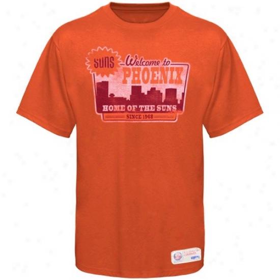 Phoenix Suns Attire: Sportiqe-espn Phoenix Suns Orange Billboard Distressed Premium T-shirt
