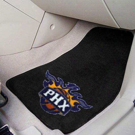 Phoenix Suns Black 2-piece Carpet Car Mat Set
