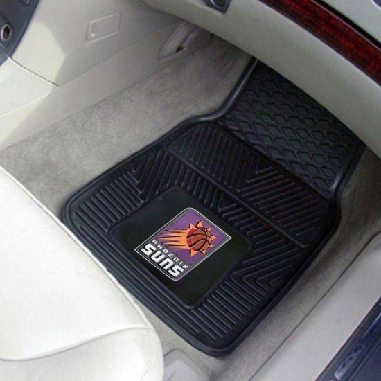 Phoenix Suns Black 2-piece Vinyl Car Interweave Set