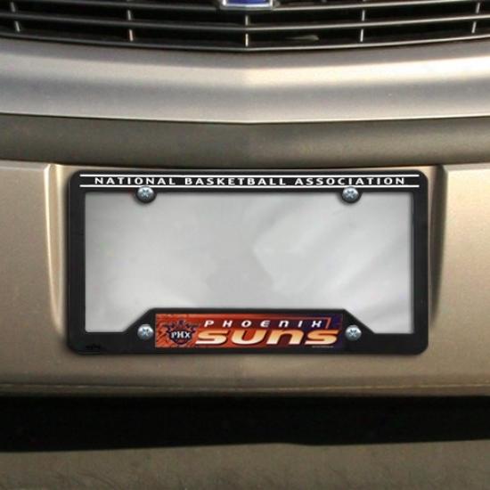 Phoenix Suns Black Plastic License Plate Frame