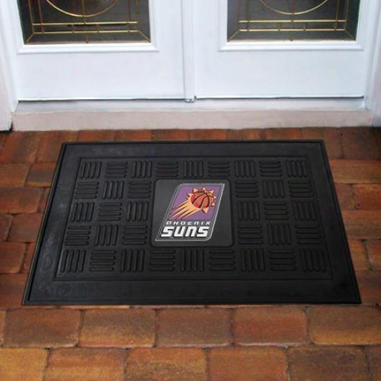 Phoenix Suns Black Team Logo Rubber Mat