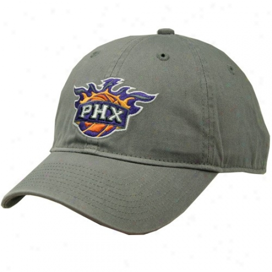 Phoenix Suns Cap : Adidas Phoenix Suns Gray Basic Logo Skouch Cap