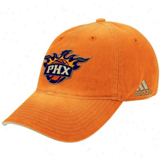 Phoenix Suns Cap : Adidas Phoenix Suns Orange Slouch Adjustable Cap