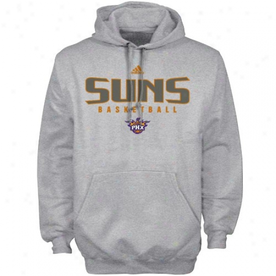 Phoenix Suns Fleece : Adidas Phoenix Suns Ash Absolute Fleece
