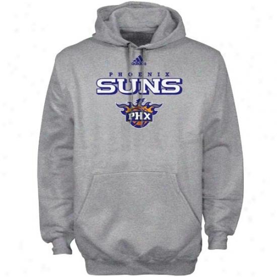 Phoenix Suns Hoodies : Adidas Phoenix Suns Ash True Court Hoodies