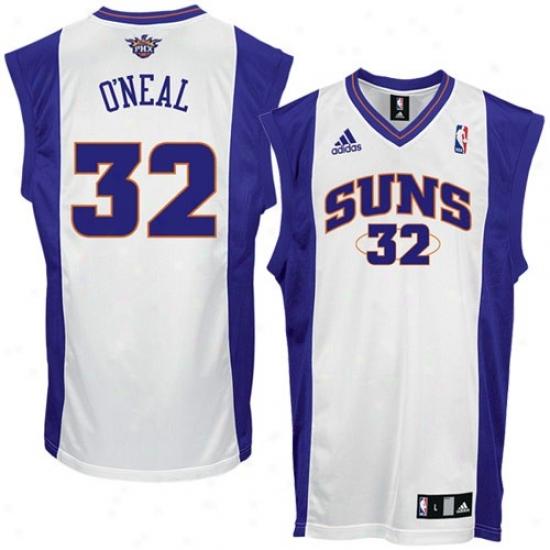 Phoenix Suns Jersey : Adidas Phoenix Suns #32 Shaquille O'neal White Replica Basketball Jersey