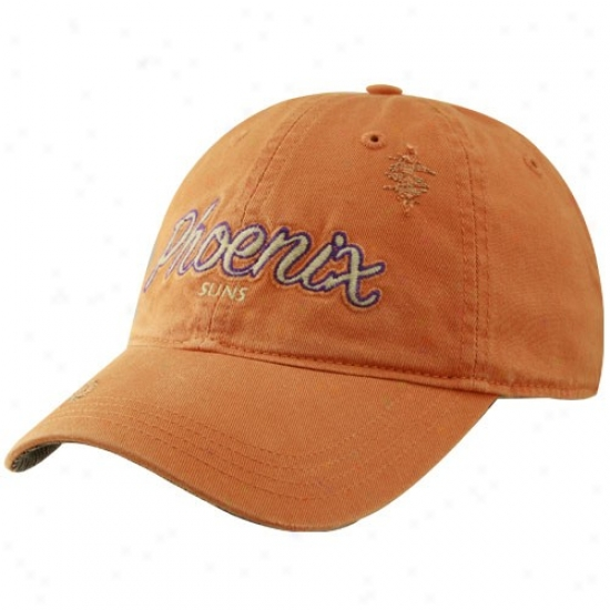 Phoenix Suns Merchandise: Adidas Phoenix Suns Orange Alternate Slouch Hat
