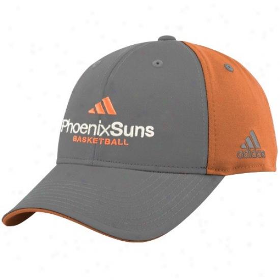 Phoenix Subs Merchandise: Adidas Phoenix Suns Pewter-orange Multi Team Color Structured Cardinal's office