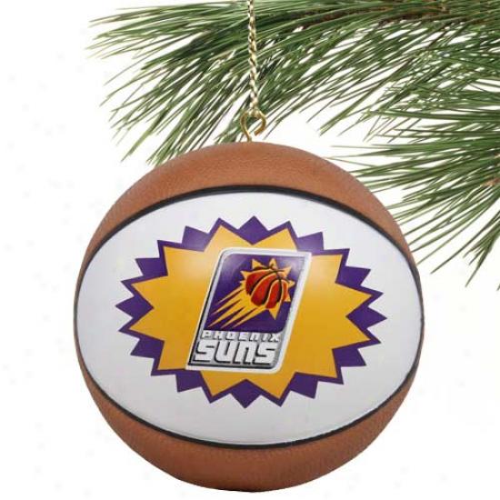 Phoenix Suns Mini-replca Basketball Ornament